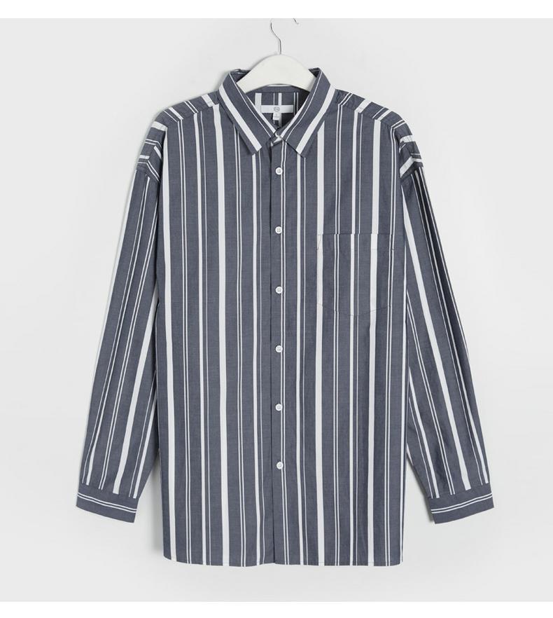C & A retro hippie gió sọc dọc áo sơ mi nam mùa hè thường bông ve áo sơ mi CA200205342 sơ mi dài tay