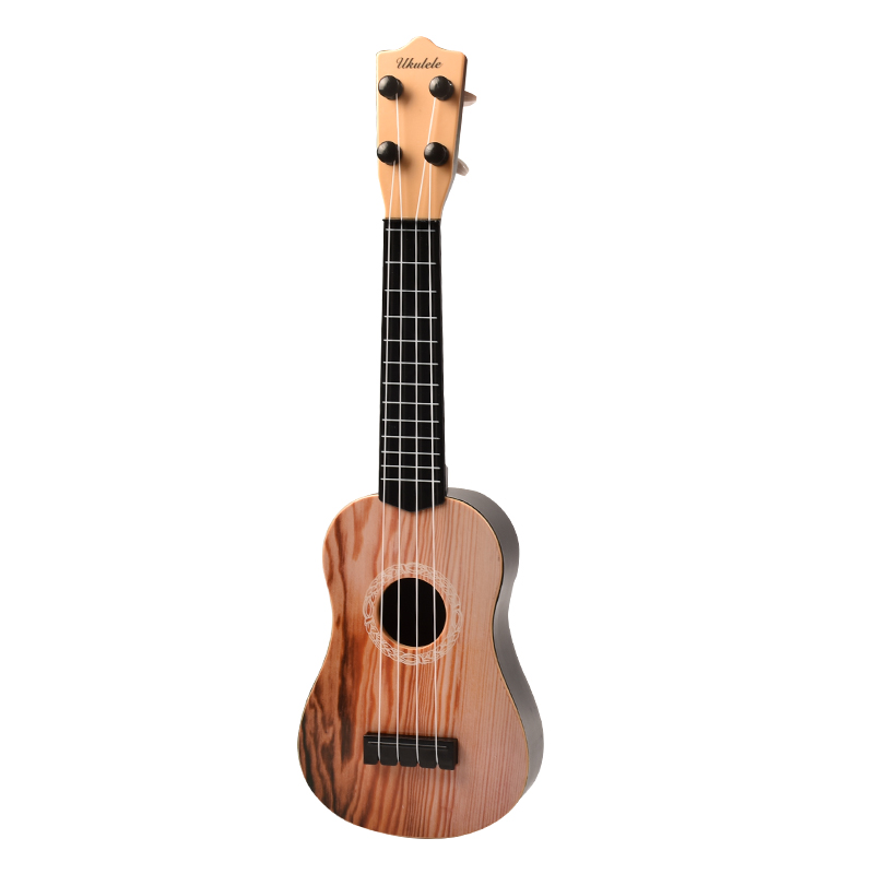 42CM IMITATION SPRUCE PATTERN UKULELE SEND PICKS READY STRING SIMPLE TEACHING MATERIALS