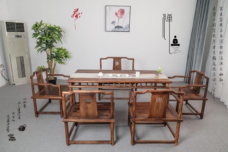 Nam Mỹ Walnut Đồ nội thất mới của Trung Quốc Bàn trà gỗ rắn Bàn trà Kung Fu Bàn trà giải trí - Bàn ghế ngoài trời / sân