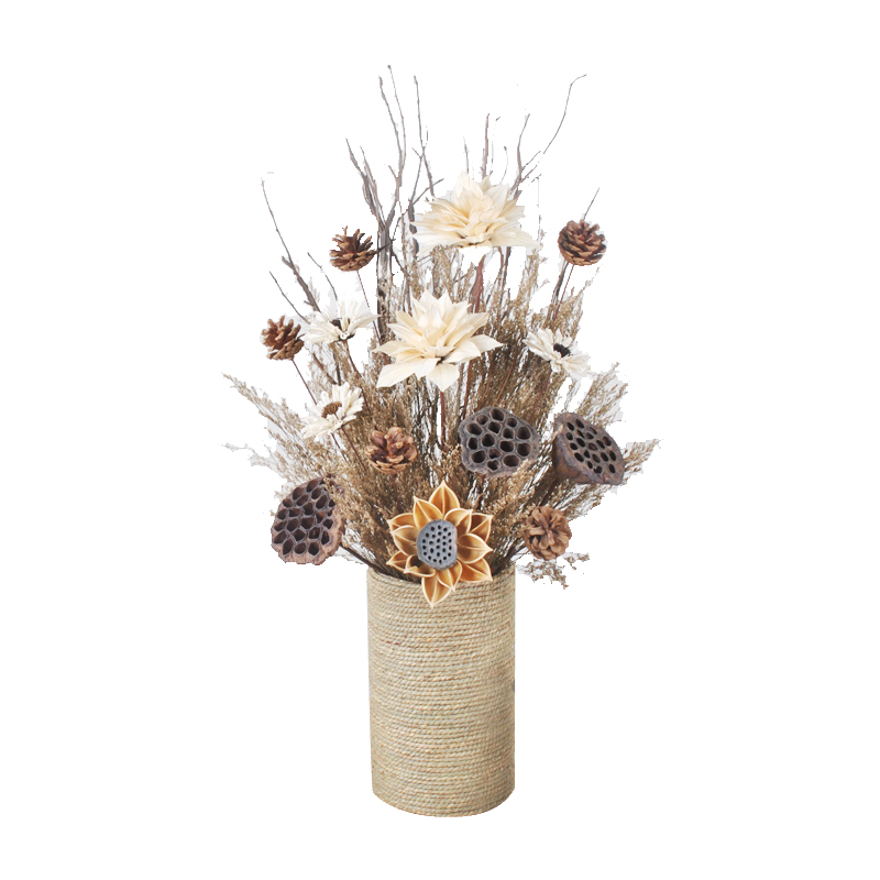 Modern minimalist dried flowers bouquets real flowers home ...