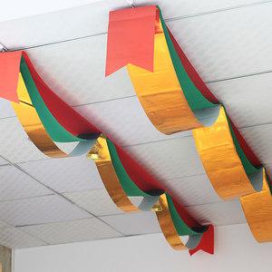 圣诞节装饰波浪旗吊旗挂旗拉旗挂饰彩旗商场场景新年年会布置挂饰