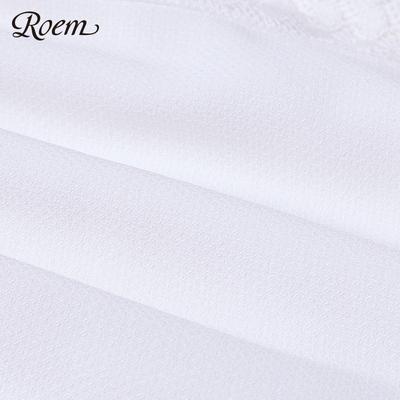Roem Luo Yi 2017 mùa hè mới dây đeo cổ áo eo ngắn tay áo đầm RCOW72405M Sản phẩm HOT