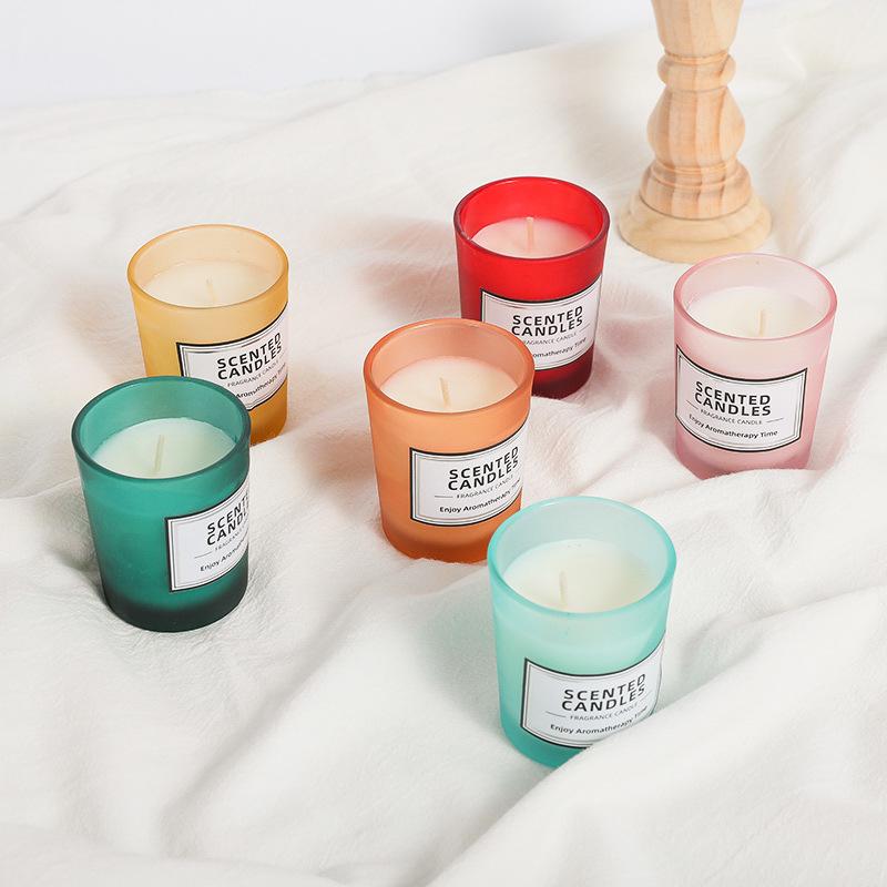 舒居香薰蜡烛室内香氛精油持久熏香表白蜡烛情调玻璃杯无烟大豆蜡