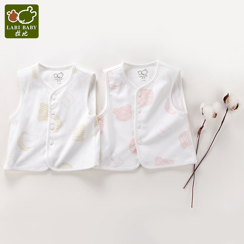 Labibaby Short Sleeve Sleepwear Bear Pattern Rompers Cotton Summer For Infant Newborn Clothes One-pieces Blanket Sleepers