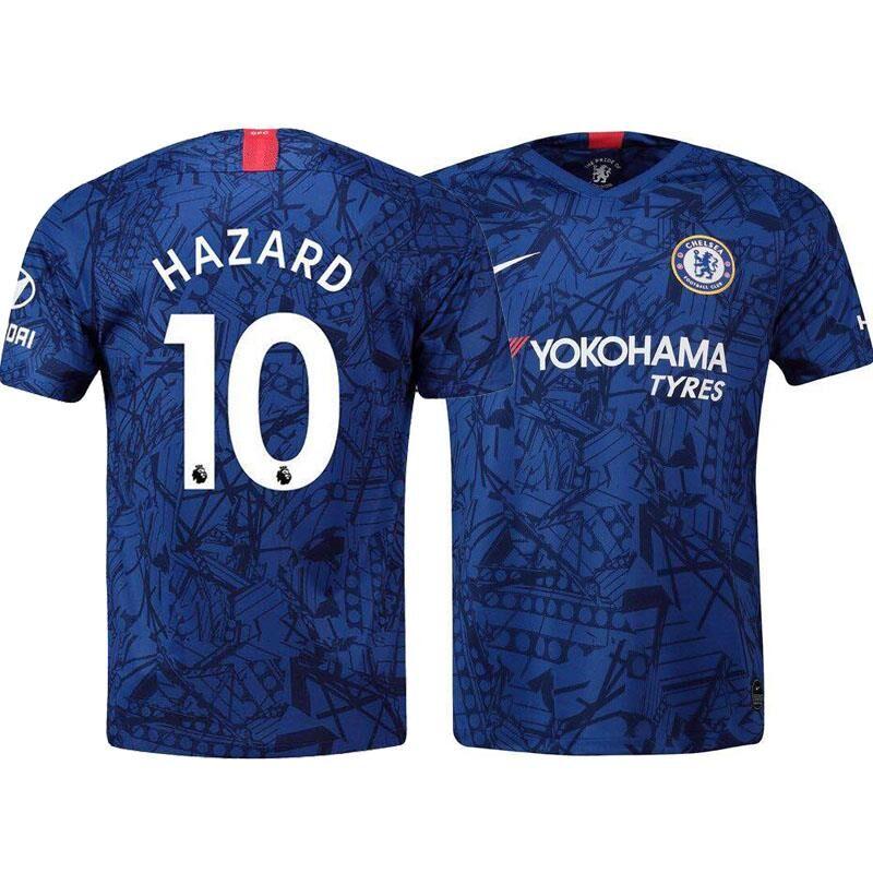 新款切尔西足球19-20套装10号阿扎尔18号吉鲁7坎特主场短袖服球衣