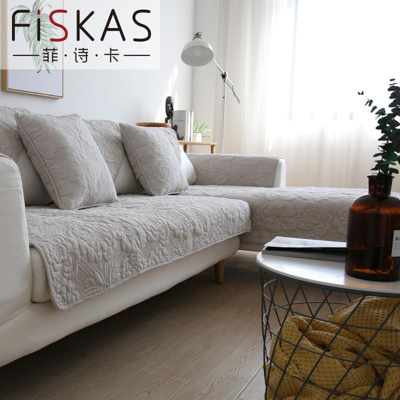 Нордический ins дуплекс мойка хлопок подушки на диване сын четыре сезона универсальный твердый ткань крышка наборы полотенец вышивка цветы подушка