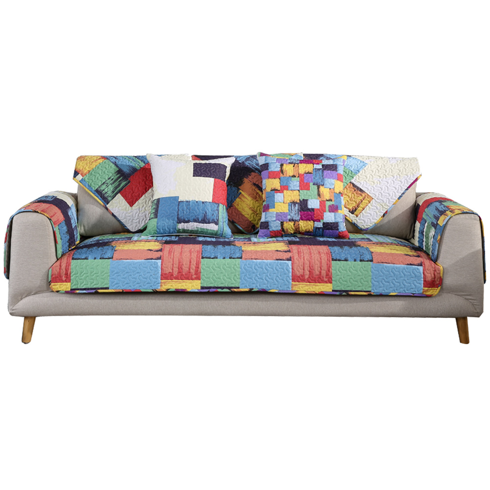 Simple Modern Living Room Sofa Cushion Four Seasons Universal Cotton Fabric  Cushion Leather Anti Slip Full Cover Hood Cover