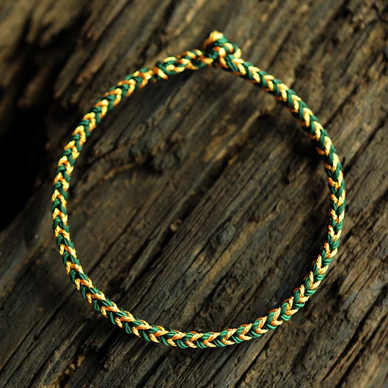 结绳记 本命年开光红绳手链 手工编织手绳男女情侣饰品八股平安绳