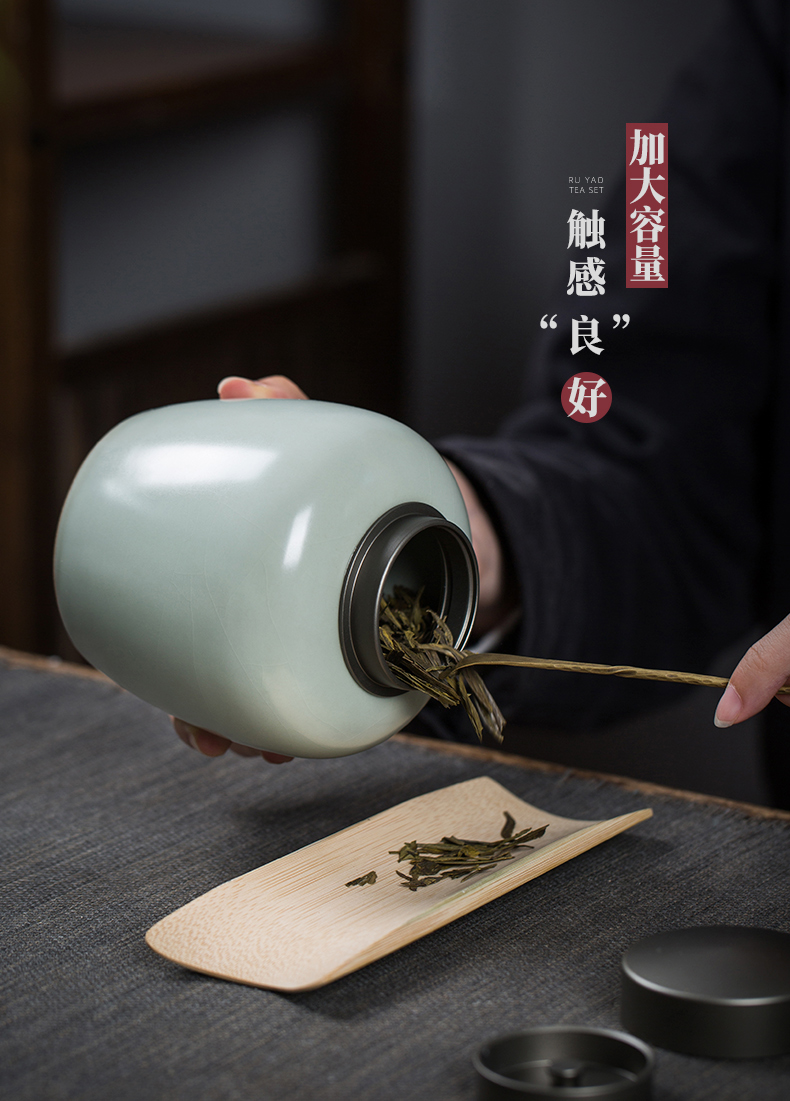 Your up pot containing small jingdezhen ceramic store tea caddy fixings seal household kung fu tea accessories