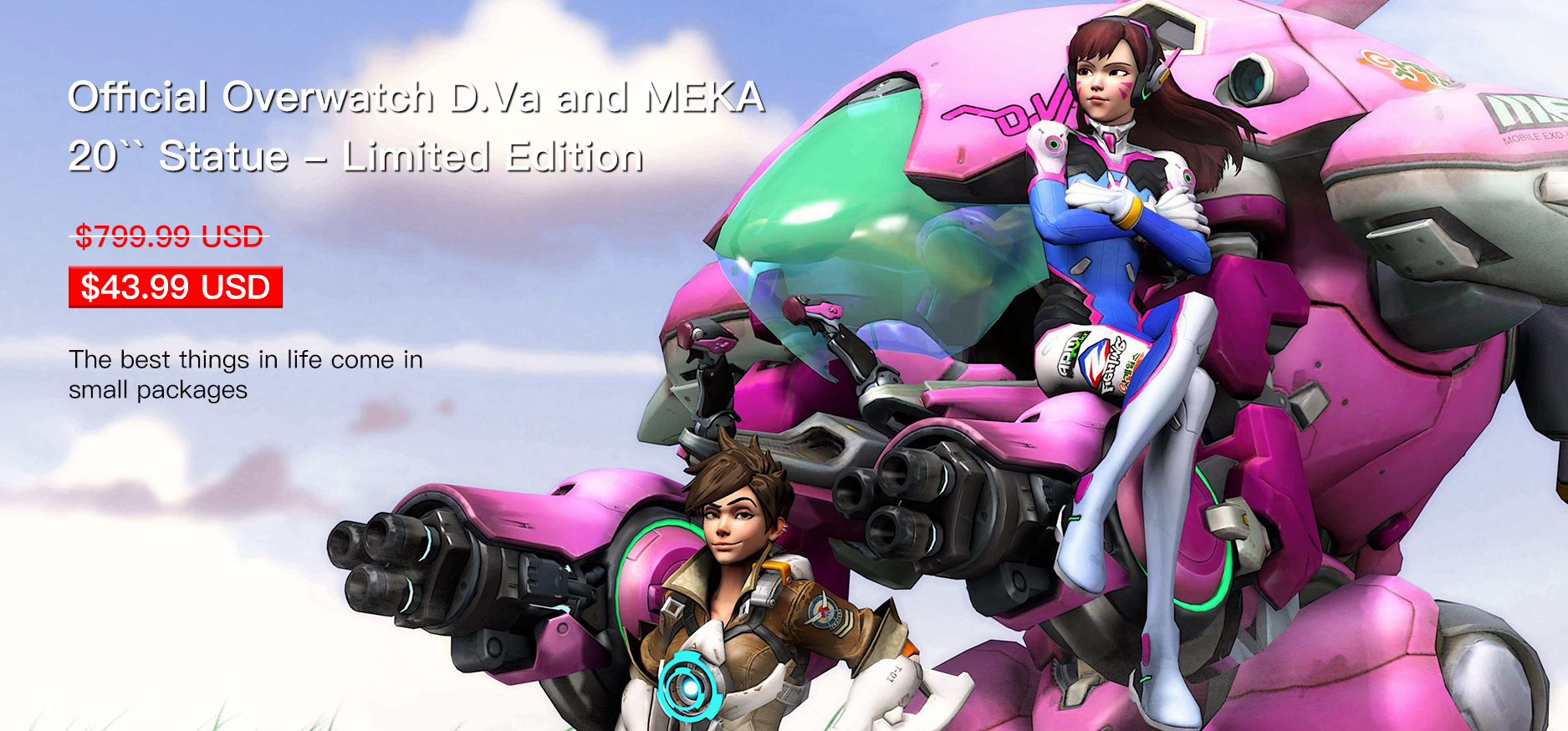 Official Overwatch D.Va and MEKA 20`` Statue - Limited Edition