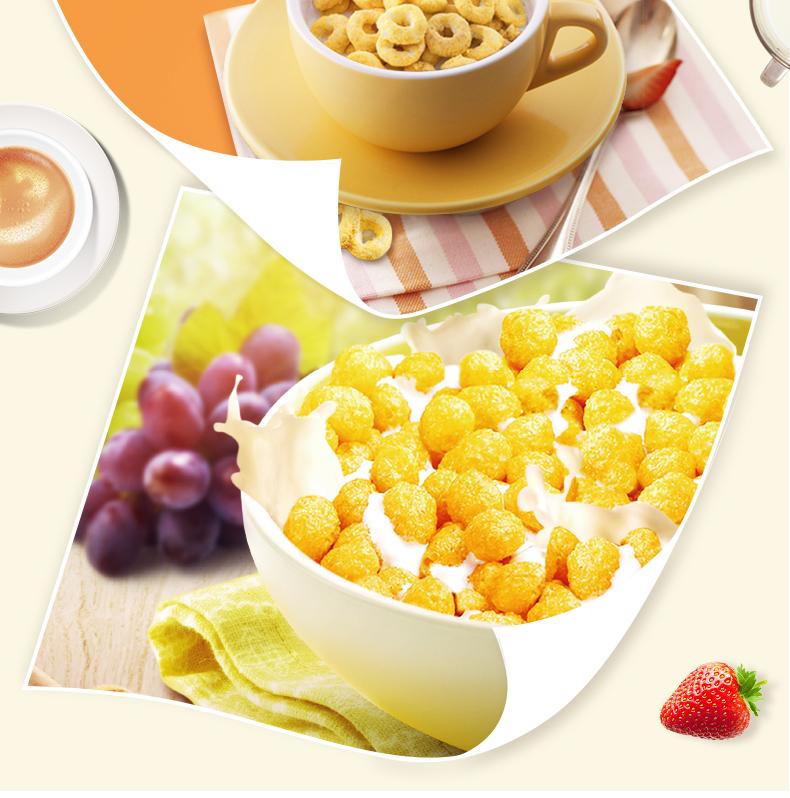 意大利原装进口捷森jason蜂蜜麦圈玉米球玉米片开袋即食早餐麦片6张