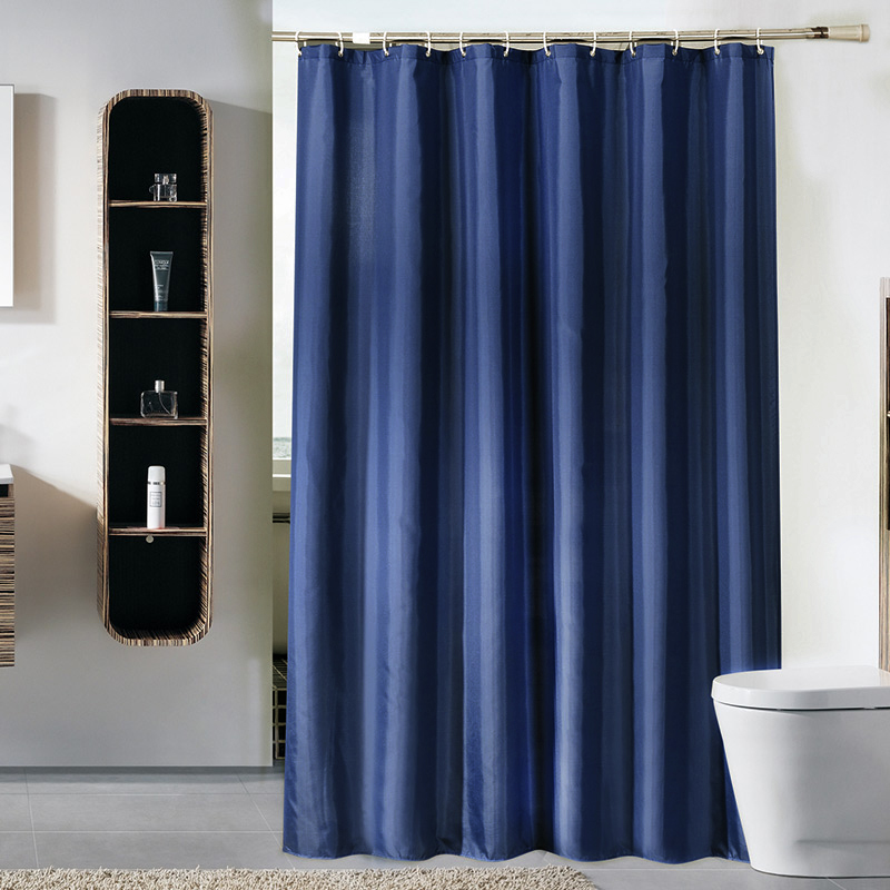 Dream Solid Color Blue Shower Curtain Thickening Toilet Partition Polyester Waterproof Mildew