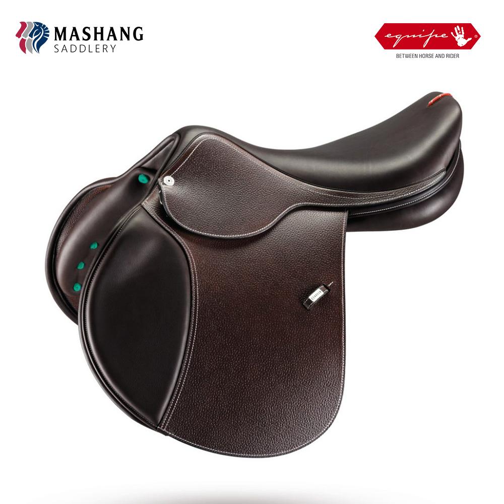 Ma Shangma с   Италия импортировала Equipe EK-26 мелкие пальмовые препятствия седло конное интегрированное седло кожаный