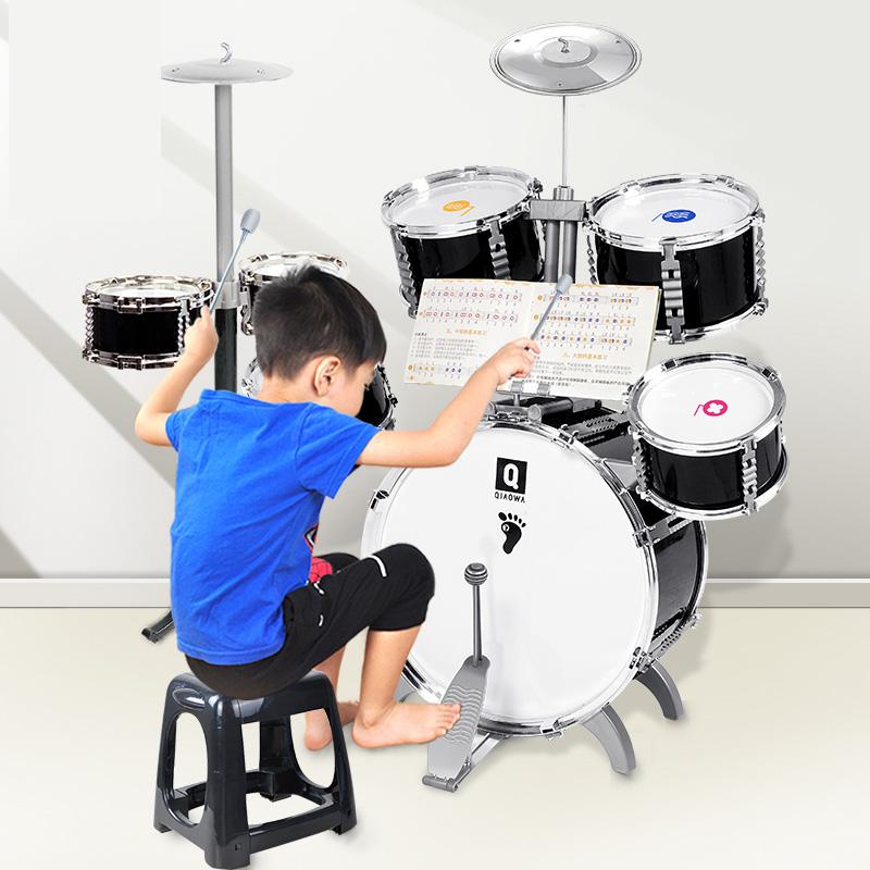 兒童架子鼓初學者爵士鼓敲打鼓樂器寶寶益智玩具男孩3-6歲玩具