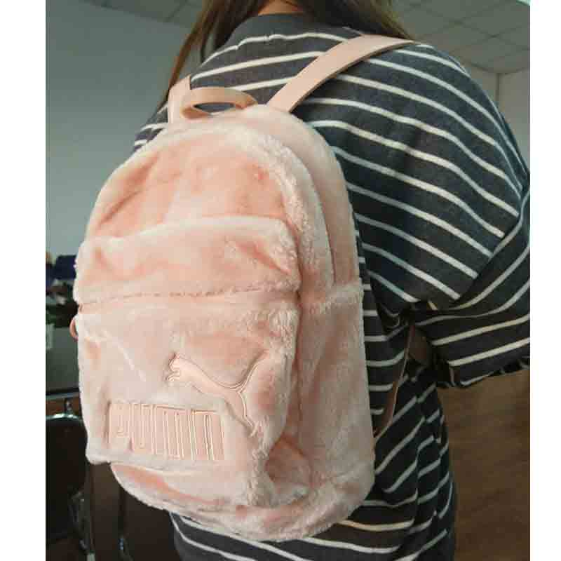 ae8e606db6a1 Puma Puma backpack 2017 New Rihanna plush shoulders wild casual bag 07511101