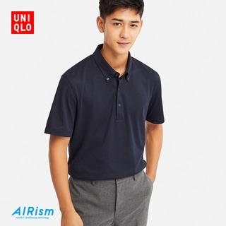 Поло,  Мужской  AIRism POLO рубашка ( короткий рукав ) 413441 отлично одежда склад UNIQLO, цена 1715 руб