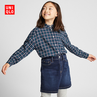 Children's Wear / Girls Flannel Plaid Shirt (Long Sleeve) 418609 Uniqlo UNIQLO