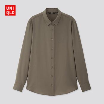 Рубашки,  Отлично одежда склад женщины фантазия рубашка ( длинный рукав ) 424642 UNIQLO, цена 1505 руб