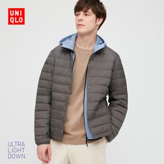 Отлично одежда склад мужской продвинутый легкий вниз портативный баклажан грамм ( пальто ) 429284 UNIQLO, цена 5858 руб