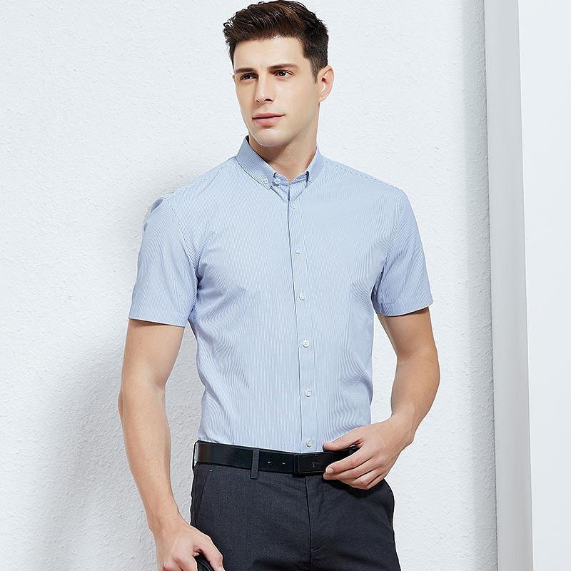 专柜同款:才子 男士商务休闲短袖衬衫