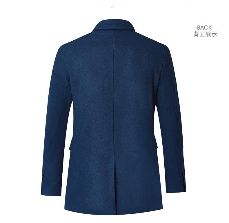 Tài năng của nam giới 2018 mùa thu và mùa đông áo khoác len nam dài trung niên kinh doanh bình thường áo len