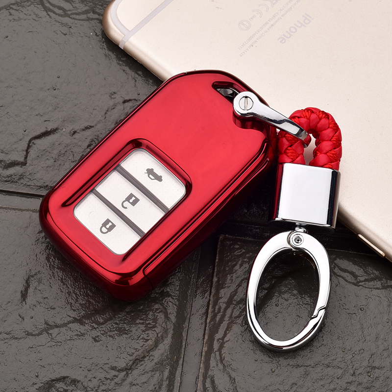 Honda All-inclusive Key Set [china Red Single Shell + Red Hanging Buckle]