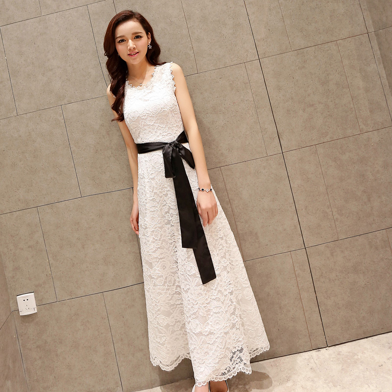 WHITE [QUALITY MALL FABRIC] SEND BELT