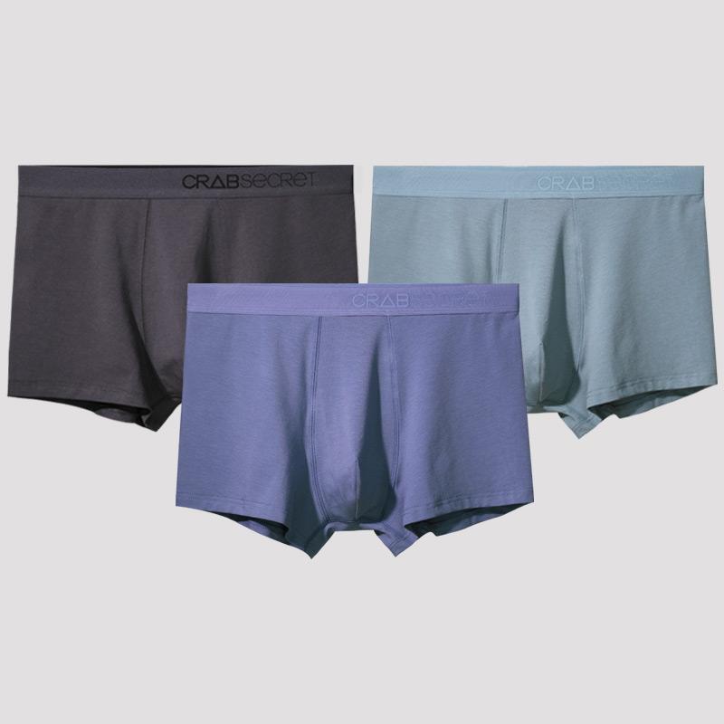 97%银离子抑菌:3条 螃蟹秘密 莫代尔男抑菌透气内裤