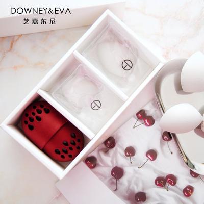 DE美妆蛋限量版海绵粉扑葫芦两用不吃粉硅胶收纳套装「送支架」