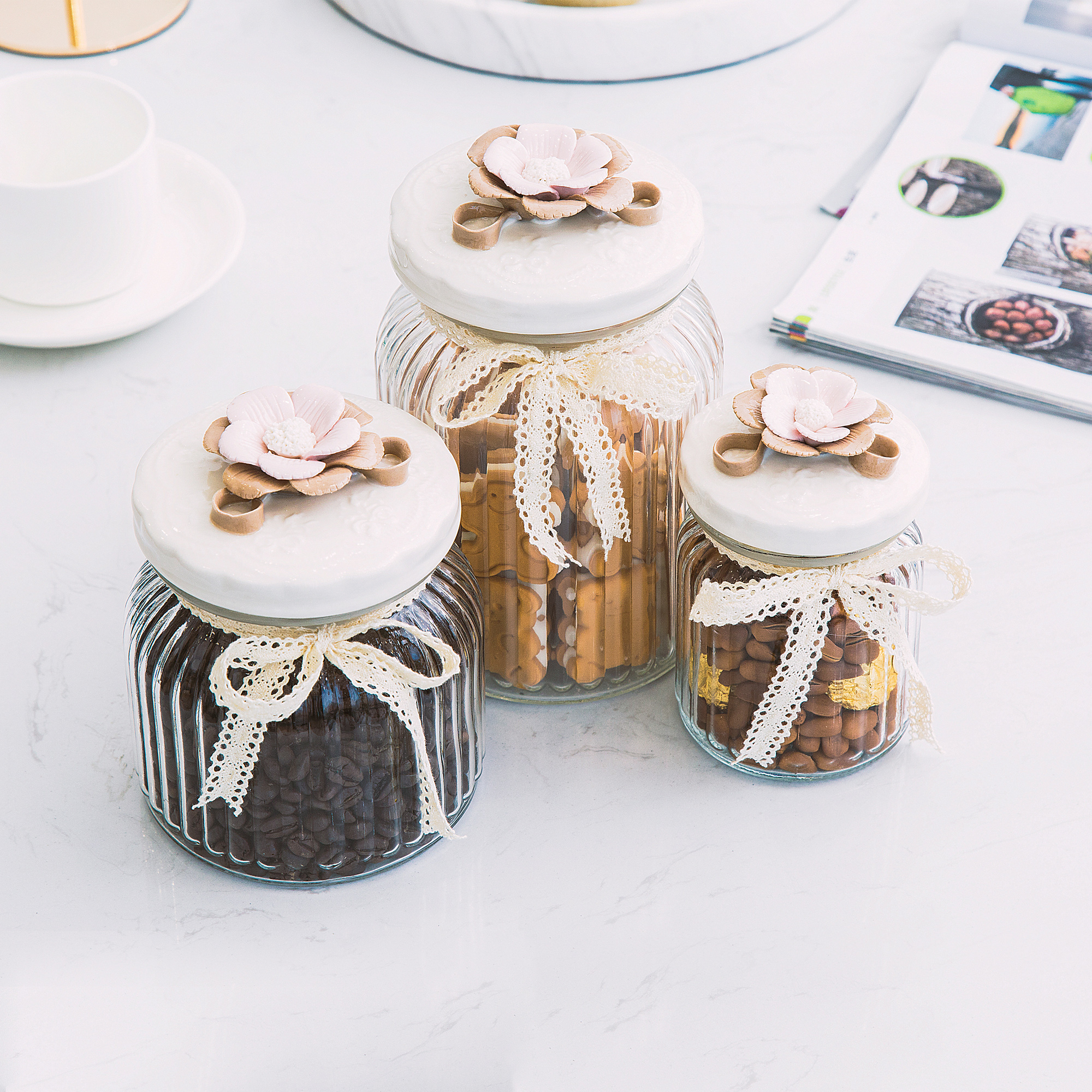Usd 1221 creative home crafts wedding decoration candy jar glass creative home crafts wedding decoration candy jar glass candy jar sealed storage jar with cap americana junglespirit Image collections