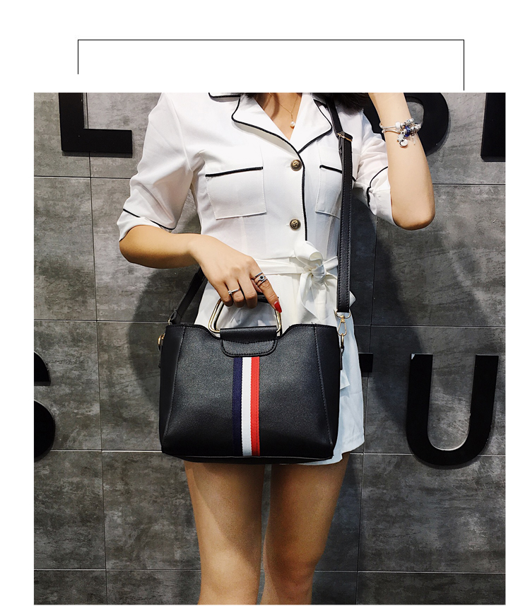 Women Bag Handbag Purse Ladies PU Leather Crossbody Bag 2Pcs/Leisure bag capacity big bag wholesale gray 22x21x10cm 11