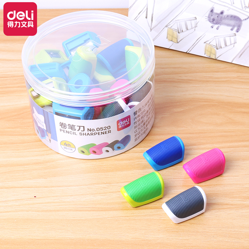 0520 (36 ANTI-SLIP PENCIL SHARPENERS)