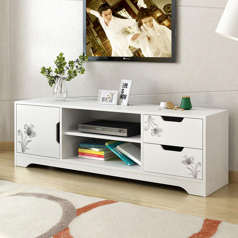 TV Cabinet Modern Minimalist Coffee Table Combination Set Nordic Bedroom  Cabinet Mini Small Apartment Living Room