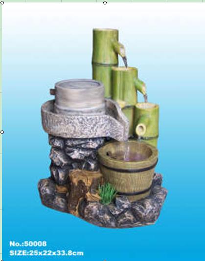 假山喷泉流水鱼池/风水球石磨转运轮雾化/家居环保树脂工艺品摆件