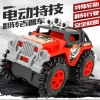 Children's non-remote control electric cartoon stunt tumble toy police car toy off-road dump truck jeep boy
