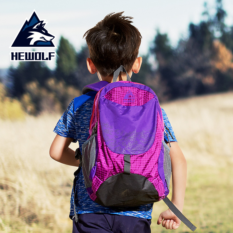 3765b060e5 Male Wolf Children s Backpack Outdoor Sports Backpack Ultralight Student Travel  Bag Leisure Bag Male and Female