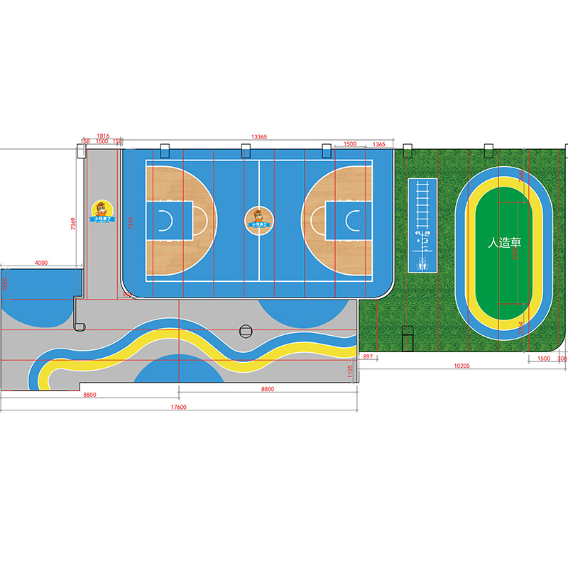 Покрытие для спортплощадок Alite  360 Logo PVC