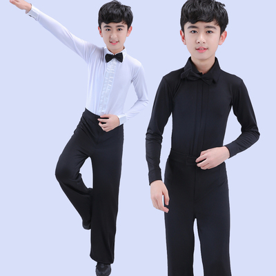 Boys latin dance shirt New year Day children Latin dance performance clothing children competition performance clothing boys clothing students dance clothing