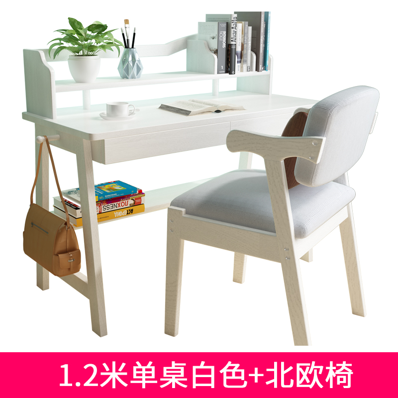 1.2 METERS SINGLE TABLE WHITE + NORDIC CHAIR SPOT SPEED