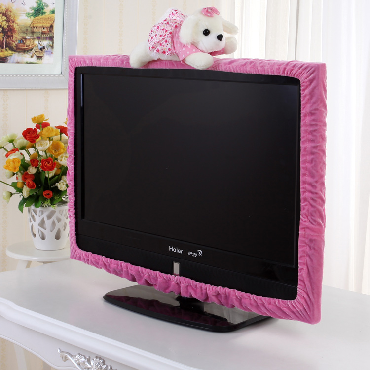 Tv Cover Dust Cover Frame Cartoon Cute Fabric Lcd 55 Inch Hanging Tv