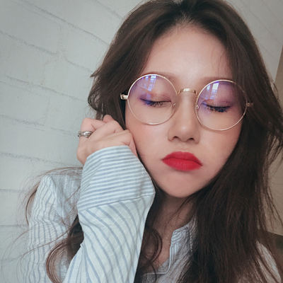 Retro small round frame glasses frame female Korean version of the original Harajuku style ulzzang net red round face myopia eye frame male