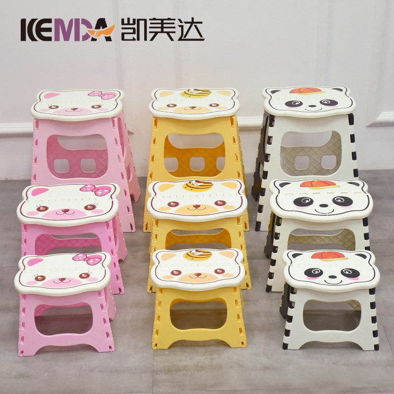 Can receive stools folding by train small thick children's board plastic tearing shoes home chair can be short adult fashion