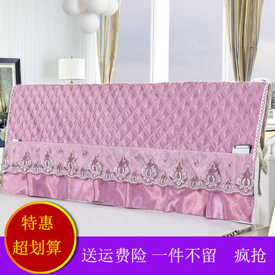 Bedhead Mediterranean dust cover 1.5M bed 1.8M bed simple jacket unpacking soft bag European solid wood protective cover
