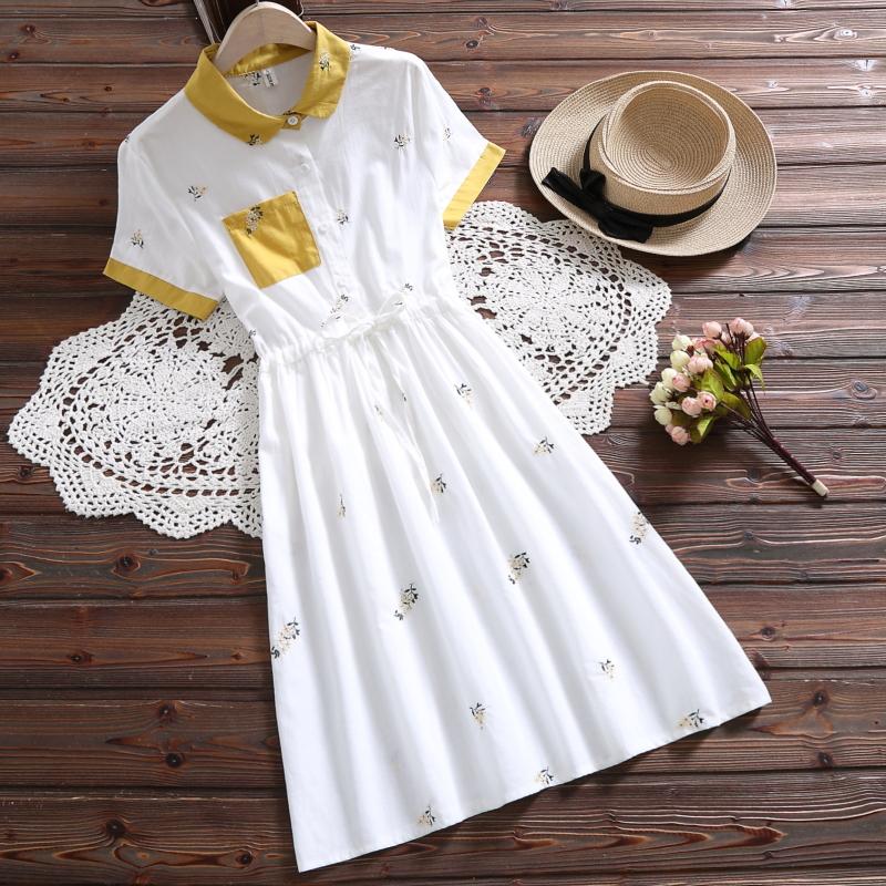 2019夏新款裙子收腰系带12显瘦15a裙子18中学生少女v裙子气质连衣裙