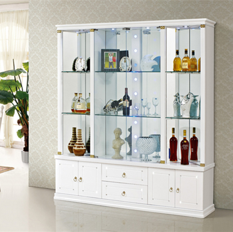 Living Room Gl Decoration Cabinet Bar Counter Modern Wine Lacquer Door