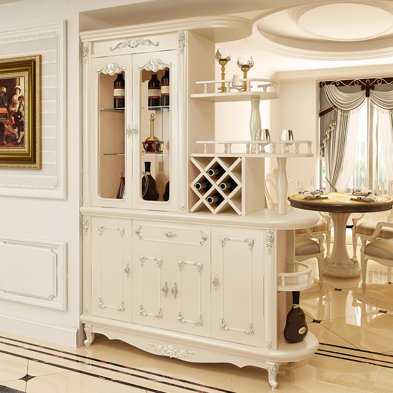European Style Entrance Cabinet Wine Living Room Parion Double Sided Hall Screen Into The Door Shoe Decoration