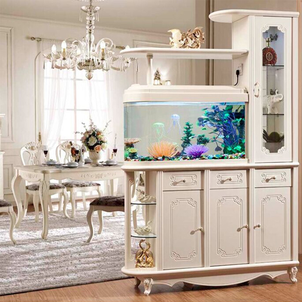 USD 646.07] European-style living room fish tank Xuan close cabinet ...