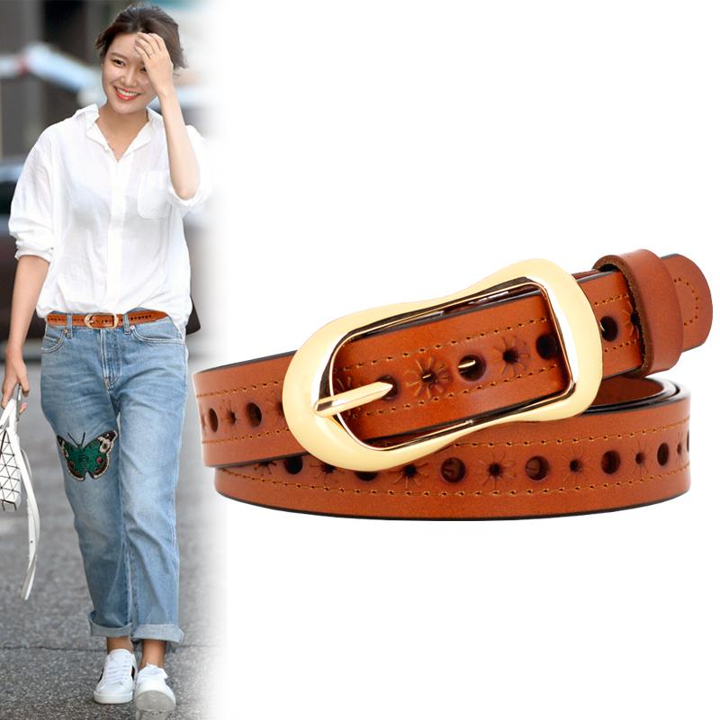Leather Leather Belt Women Fashion Korean Jeans Belt Fashion Ladies Belt
