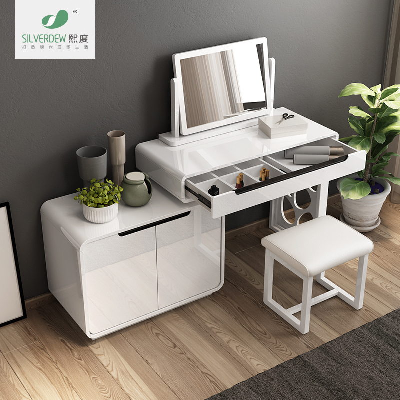 Hee Degree Bedroom Dressing Table Minimalist Modern Makeup Station Is  Versatile With A Makeup Mirror Vanity Table Desk Cabinet Combination