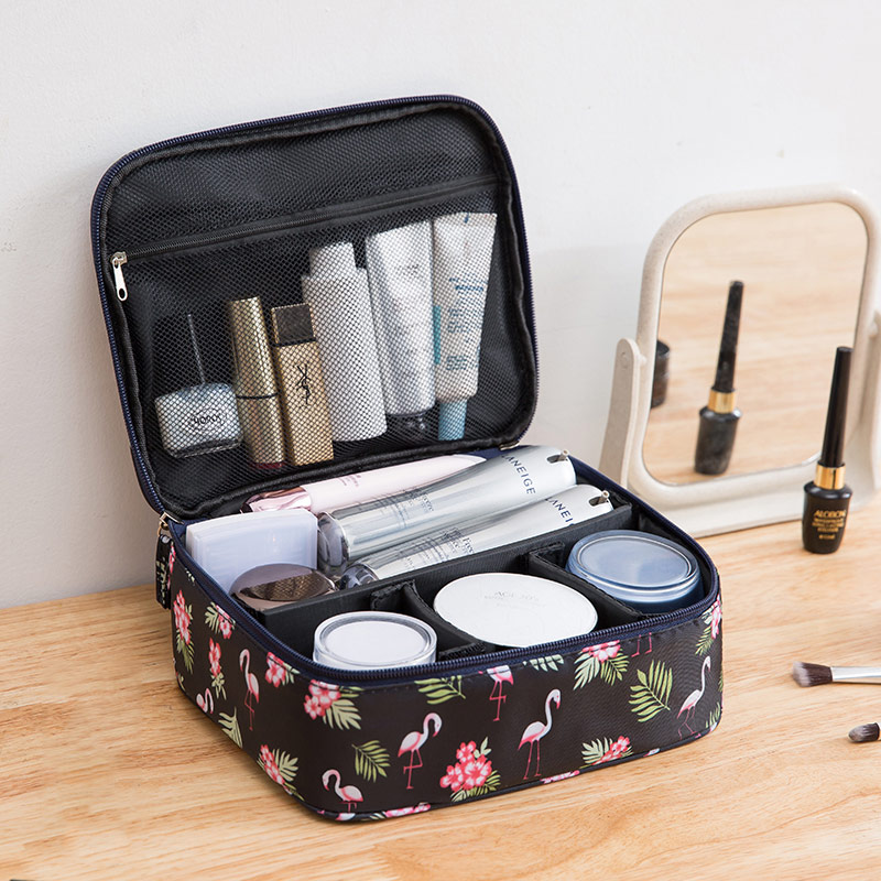 化妆包小号便携韩国简约大容量多功能旅行随身少女心洗漱品收纳盒